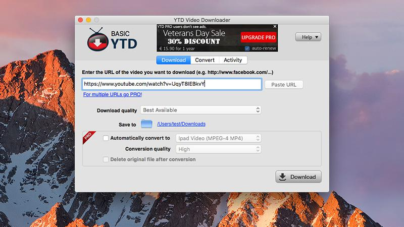 YTD Video Downloader para Mac