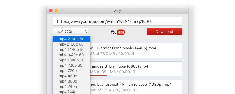 Step 2 on how to download videos from YouTube for free with Airy