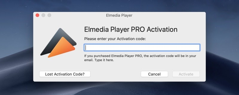 Elmedia Player PRO Activation