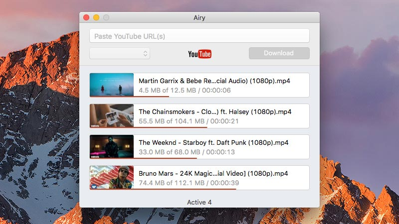Save YouTube video with Airy