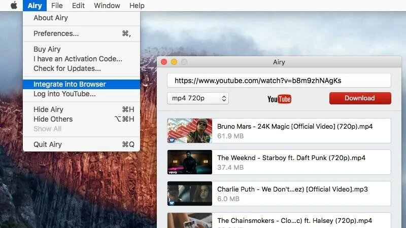 Save YouTube videos in Safari with Airy