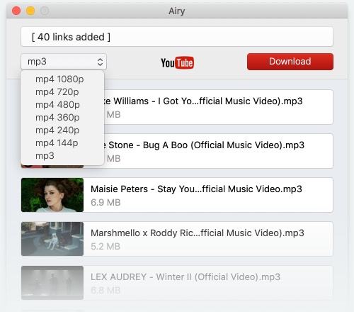 Illustration on how to download YouTube videos on Mac with Airy