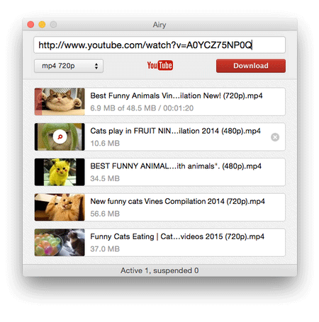 Airy YouTube to Mp4 converter Mac