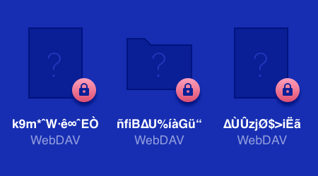 Otra aplicación/dispositivo - WebDAV encryption