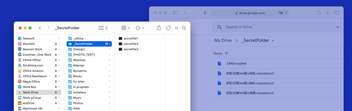 Google Drive screen