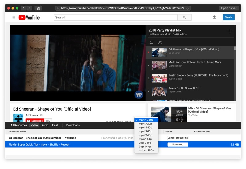 download playlist from youtube online without software