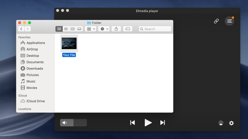 Open M2TS file with Elmedia Player