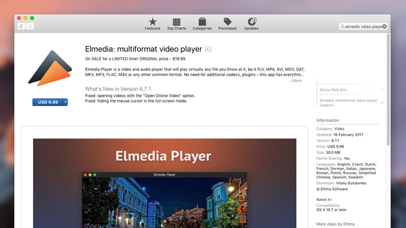 Download and install Elmedia Player