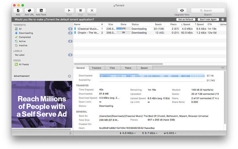 Torrent for mac free download