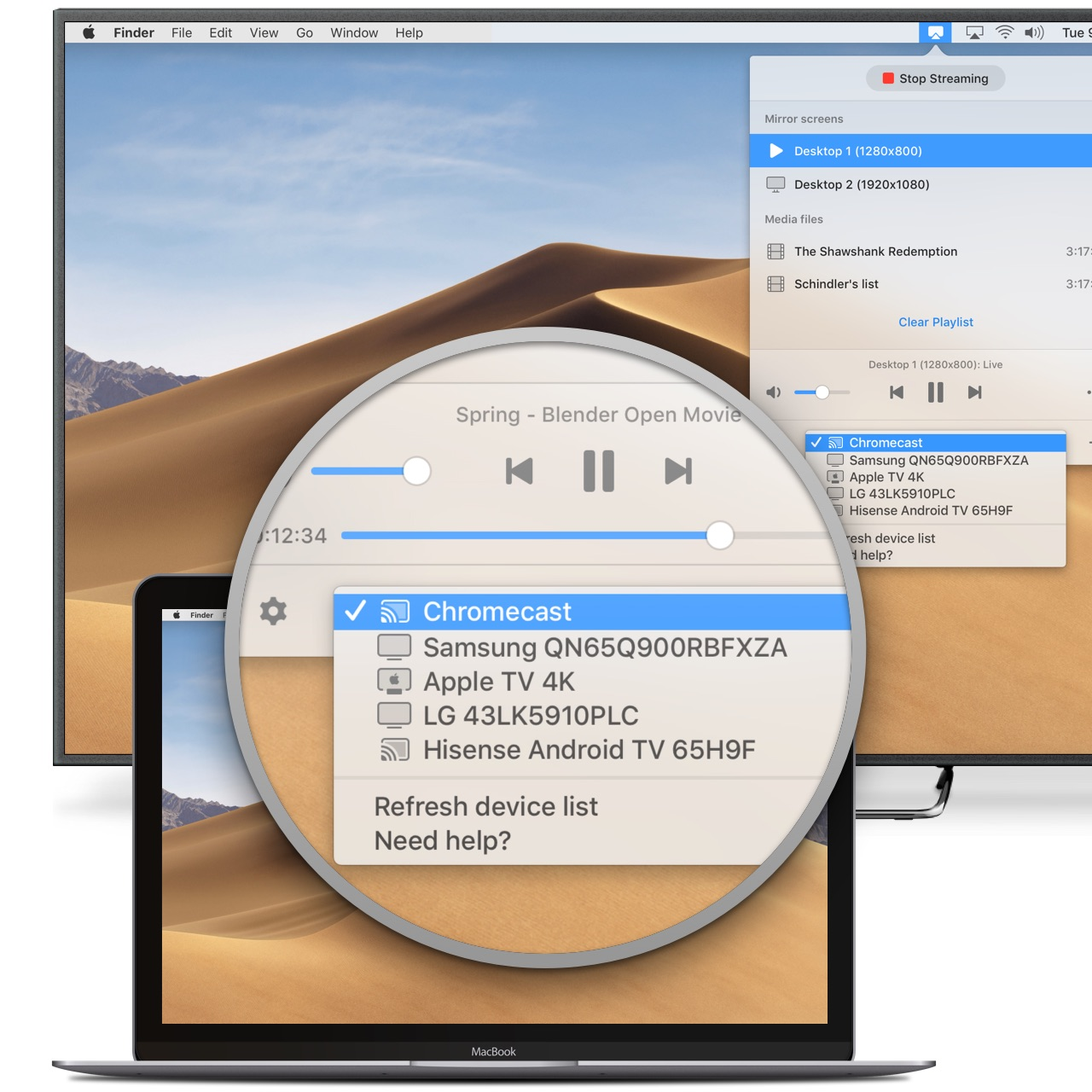 Mirror Mac To Tv With Juststream For Free Catalina Is Supported