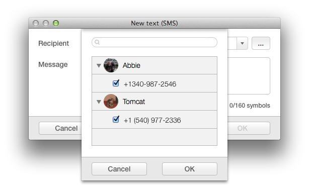 Manage Android texts directly on Mac