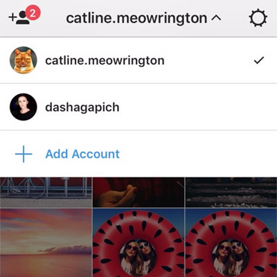 Schakelen tussen Instagram-accounts