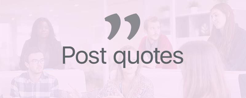 Post quotes