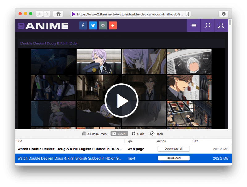 Website to download anime