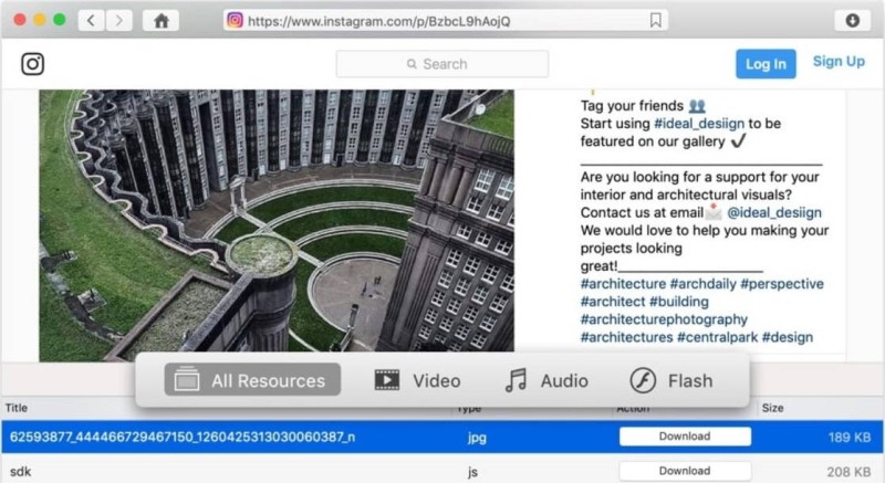 VideoDuke is the best choice to download Instagram videos on Mac.
