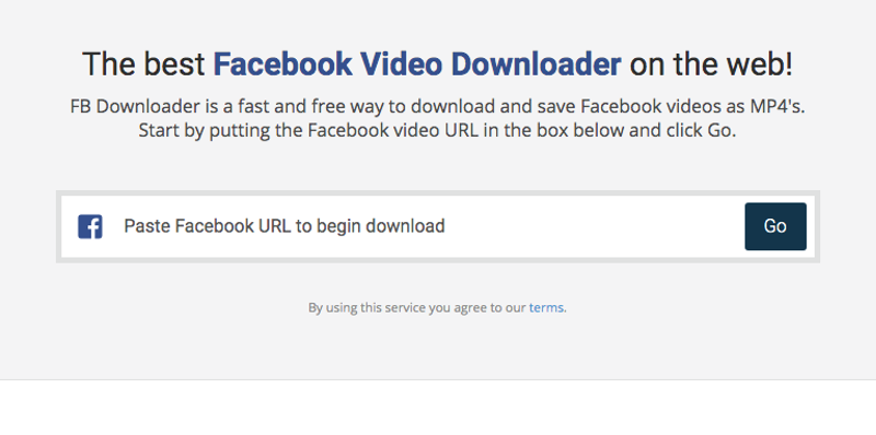 A quick look at FBdownloader features:
