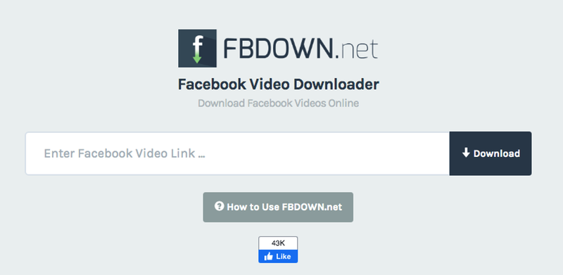 A quick look at FBDown features: