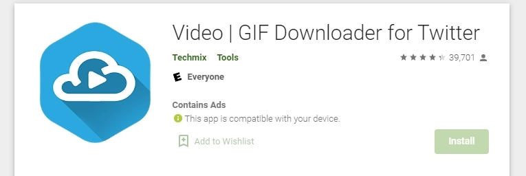 A quick look at Video | GIF Downloader for Twitter features: