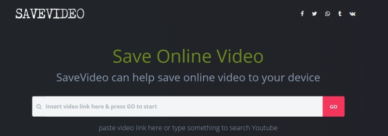 The summary for SaveVideo: