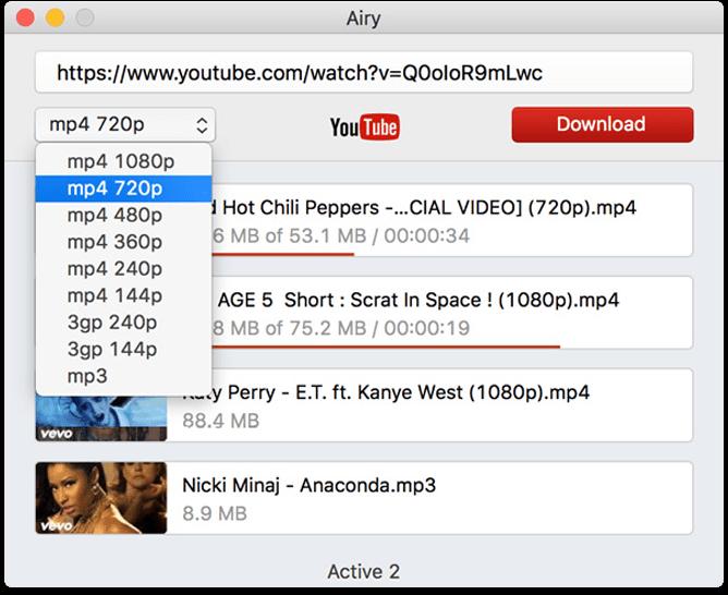 Airy 3.6.200 Mac 破解版 – Youtube 视频下载工具-爱情守望者