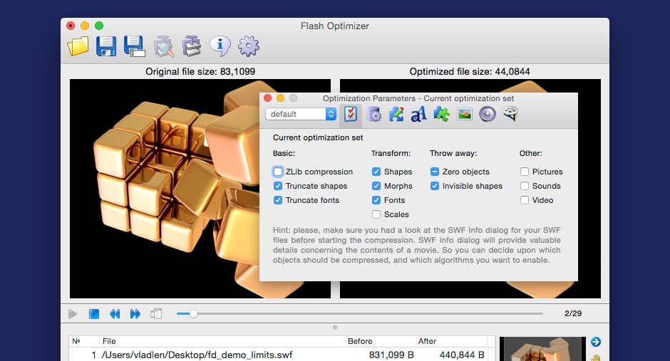 Flash Optimizer Mac