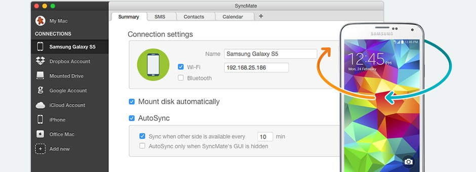 Samsung Galaxy sync Mac