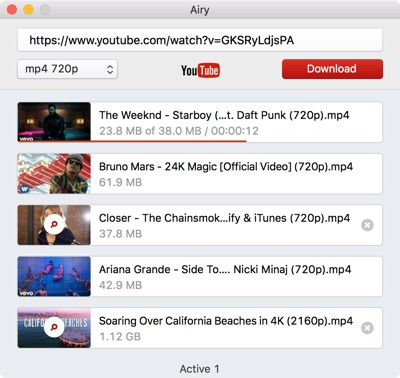 Download YTB videos on Mac with Airy
